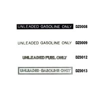 UNLEADED ONLY デカール