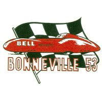 ホットロッド ステッカー BONNEVILL 53 ステッカー
