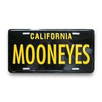 MOONEYES カリフォルニア ライセンス プレート ブラック