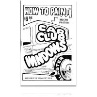 ED ROTH BOOK HOW TO PAINT CAR CLUB WINDOWS