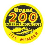 ホットロッド ステッカー Grant 200 MILES PER HOUR CLUB LIFE MEMBER ステッカー