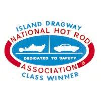 ホットロッド ステッカー NHRA ISLAND DRAGWAY デカール