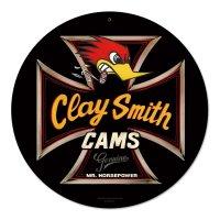 クレイスミス Genuine ブラック ラウンド メタル サイン