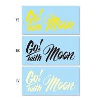 Go with MOON ステッカー (抜きタイプ)