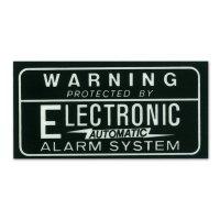 ホットロッド ステッカー ALARM SYSTEM 裏貼りデカール<黒>