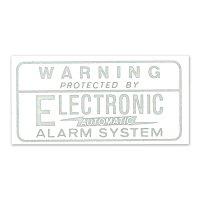 ホットロッド ステッカー ALARM SYSTEM 裏貼りデカール<白>