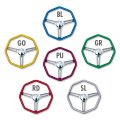 California Metal Flake Octagon Steering Wheel