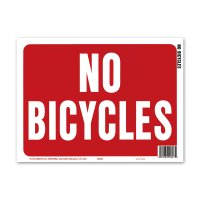 NO BICYCLES (自転車禁止)