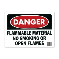 DANGER FLAMMABLE MATERIAL (危険、可燃性物質)