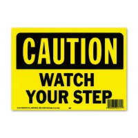 CAUTION WATCH YOUR STEP (警告、足下に注意してください)