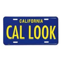 カリフォルニア スティール ライセンス プレート CAL LOOK