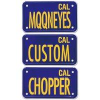 California Motorcycle ライセンス プレート (ブルー)