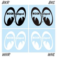 MOON Equipped Eyeshape Die Cut ステッカー