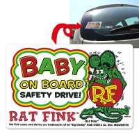 Rat Fink Baby on Bord Sticker