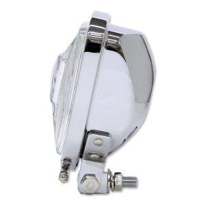 画像4: Chrome Triangle モーターサイクル ヘッドライト (Flat Back)