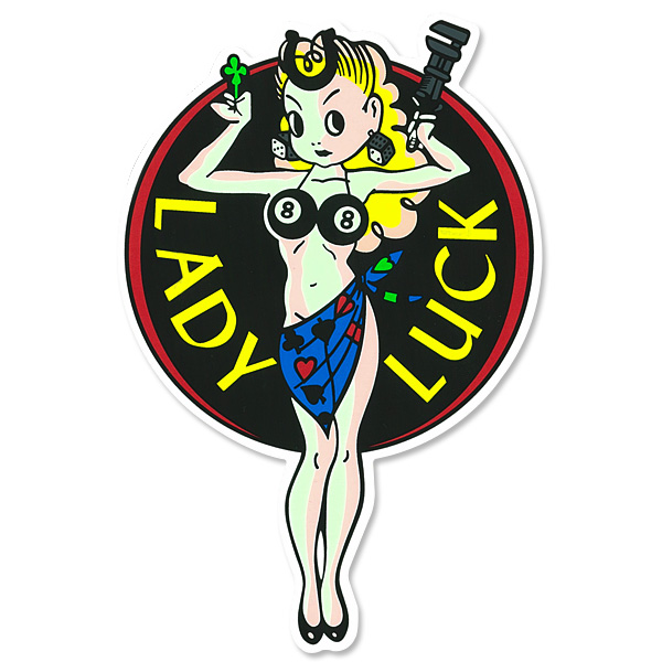 Lady Luck 6-inch Sticker