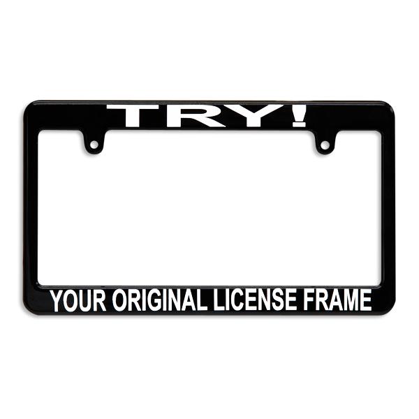 Custom License Frame JPN Size Black