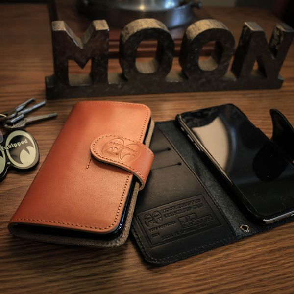 MOON Equipped iPhone7 & iPhone6/6s レザー フリップ ケース