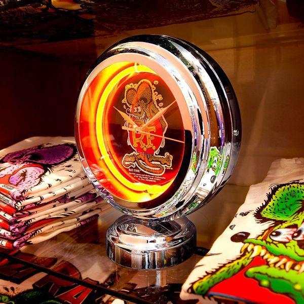 Rat Fink Neon Clock