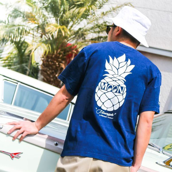 Indigo Pineapple Pocket T-shirt