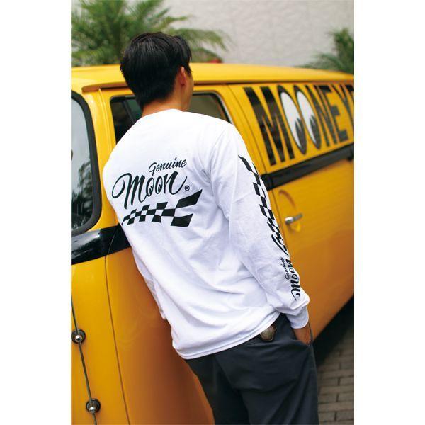 Genuine MOON Checker ロング スリーブ Tシャツ