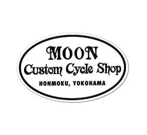 画像1: MOON Custom Cycle Shop ステッカー