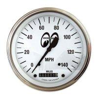 MOON Equipped 4 5/8インチ 140MPH スピード メーター<ホワイト>