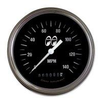 MOON Equipped 3 3/8インチ 140MPH スピード メーター<ブラック>