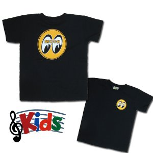 画像1: MOON アイボール Kids T-Shirts Black from USA
