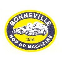 ホットロッド ステッカー 1951 BONNEVILLE HOP UP MAGAZINE ステッカー