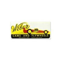 ホットロッド ステッカー Weber CAMS AND FLYWHEELS ステッカー