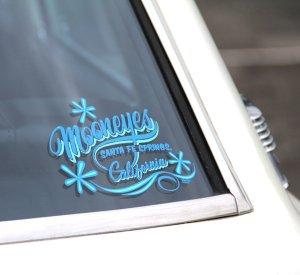 画像2: MOONEYES California Pinstripe Sticker ブルー