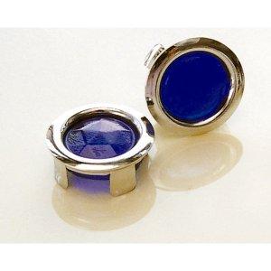 画像1: グラス ブルー ドット