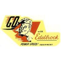 ホットロッド ステッカー GO with Edelbrock EQUIPMENT ステッカー