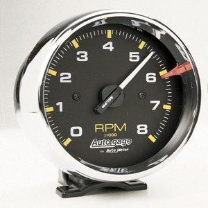 画像1: オートゲージ 8000RPM タコメーター 4/ 6/ 8気筒用クローム メッキ