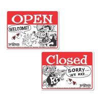 Rat Fink メッセージ ボード OPEN & CLOSED (横型)