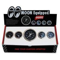 MOON Equipped 5 ゲージ セット<ブラック フェイス>
