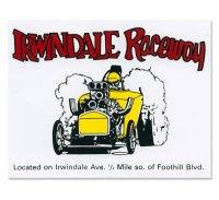 ホットロッド ステッカー IRWINDALE Raceway ステッカ