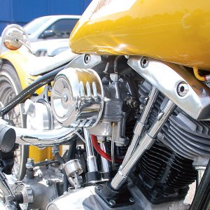 画像1: クロームド エアークリーナー カバー & フィルター キット for Motorcycle