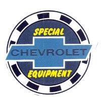 SPECIAL CHEVROLET EQUIPMENT ステッカー裏貼り L サイズ