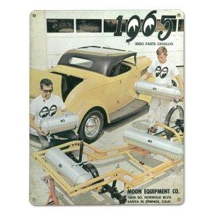 画像1: MOON ビンテージ サイン プレート 1965年 Back Cover