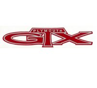 ホットロッド ステッカー PLYMOUTH GTX デカール 抜き文字タイプ