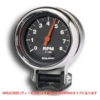 パフォーマンス 5000RPM ブラック ミニ タコメーター ディーゼル用