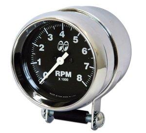画像1: MOON Mini Tachometer Black 8000rpm