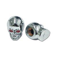 Chromed Skull Air バルブ キャップ