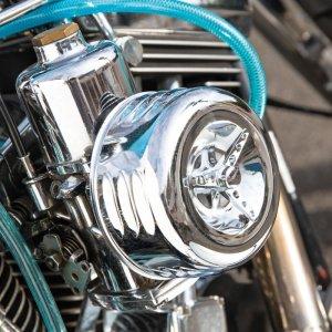 画像3: クロームド エアークリーナー カバー & フィルター キット for Motorcycle