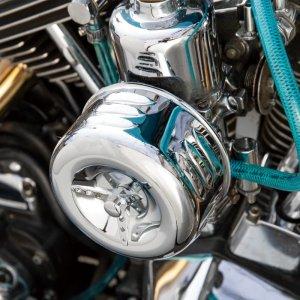 画像4: クロームド エアークリーナー カバー & フィルター キット for Motorcycle