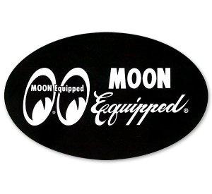 画像1: MOON Equipped オーバル ステッカー