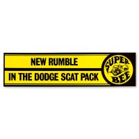 NEW RUMBLE IN THE DODGE SCAT PACK - Super Bee.