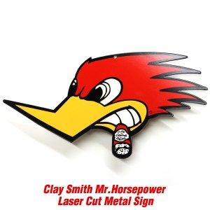 画像1: クレイスミス Mr. Horsepower レーザー カット メタル サイン